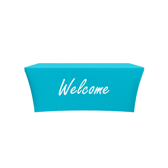 Church Welcome Design Stretched Fabric Tablecloth Cover