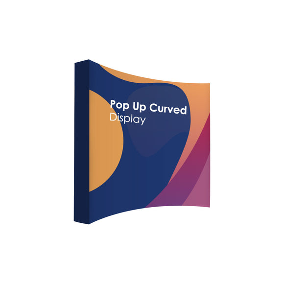 Pop Up Curved Velcro Media Wall