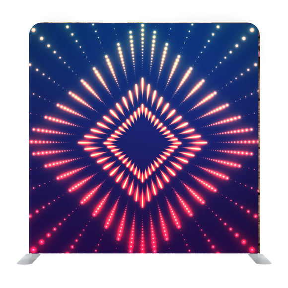 Abstract Square Glittering Lights Media Wall