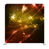 Abstract Background, Shiny Space Futuristic Wave Media Wall