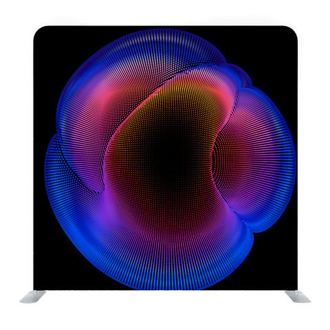Abstract Vector Colorful Mesh on Dark Media Wall