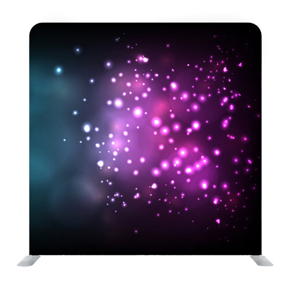 Abstract Violet Glowing Bokeh Isolated on Black Media Wall