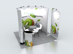 Modular U Shaped Exhibition Kit for 10ft Wide Booths