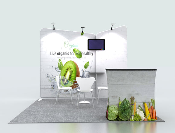 Inclined Exhibition Kit for 10ft Wide Booths