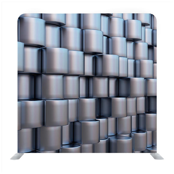 Background Image of Futuristic Concept with Silver cube Elements Pattern Backdrop