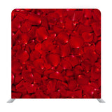 Background Of Beautiful Red Rose Petals Media Wall