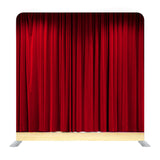 Background With Red Velvet Curtain Background Media Wall