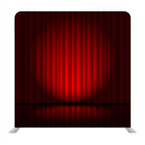 Background With Red Velvet Curtain And Spotlight Media Wall
