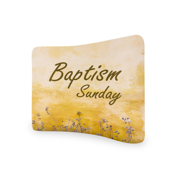 Baptism Banner Curved Tension Media Wall