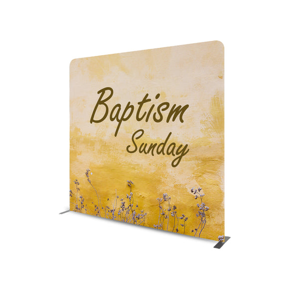 Baptism Sunday Straight Tension Fabric Media Wall Backdrop