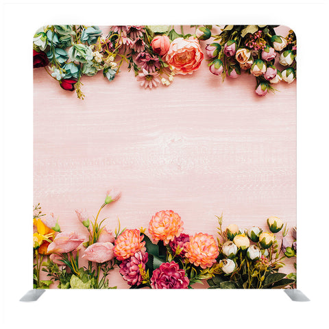 Beautiful Flowers Top and Bottom Borders Media Wall