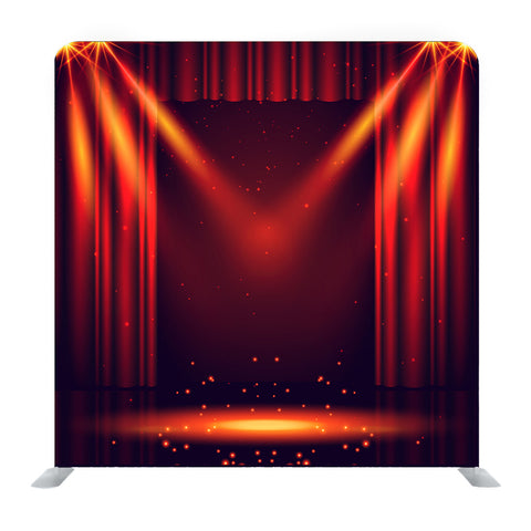 Beautiful Theater Stage With Lights Focus Background Media Wall