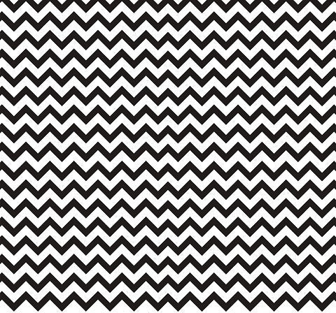 Black and White Chevron Indelible Print Fabric Backdrop