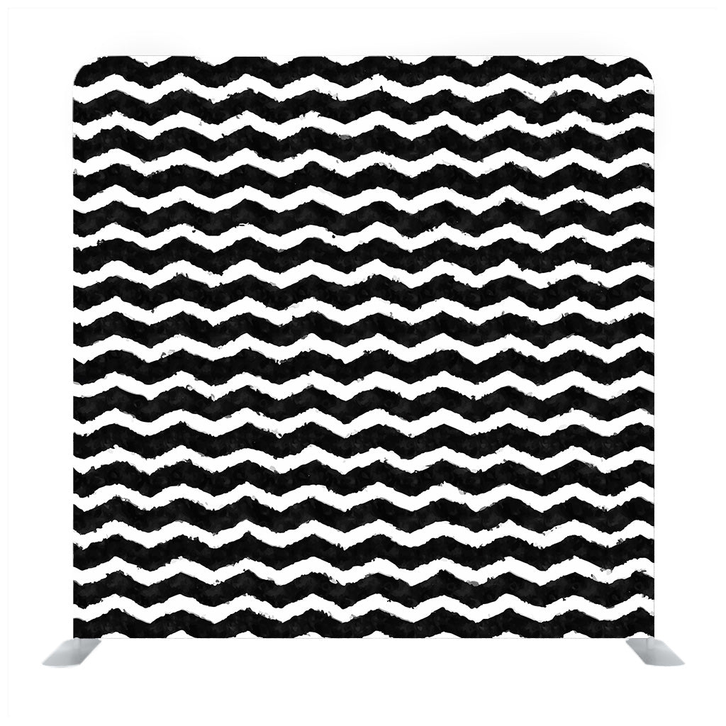 Black and White Zigzag Lines Background Backdrop