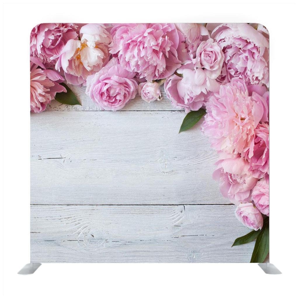 Blossom Flowers on Wooden Board Media Wall