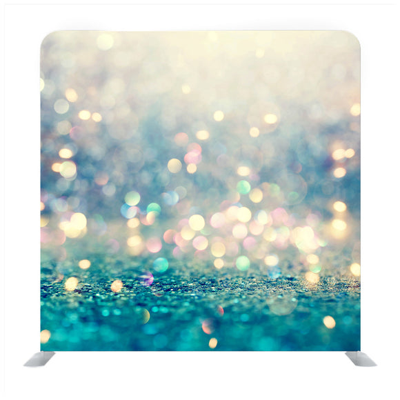 Blue Glitter Gradient Media Wall