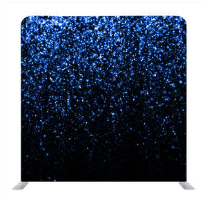 Blue Glitter With Black Background Media Wall