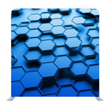 Blue Hexagon 3d Media Wall