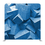 Blue Cement Cubes Media Wall