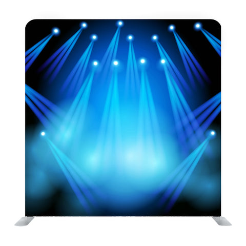 Blue spotlights shining in dark place Background Media Wall