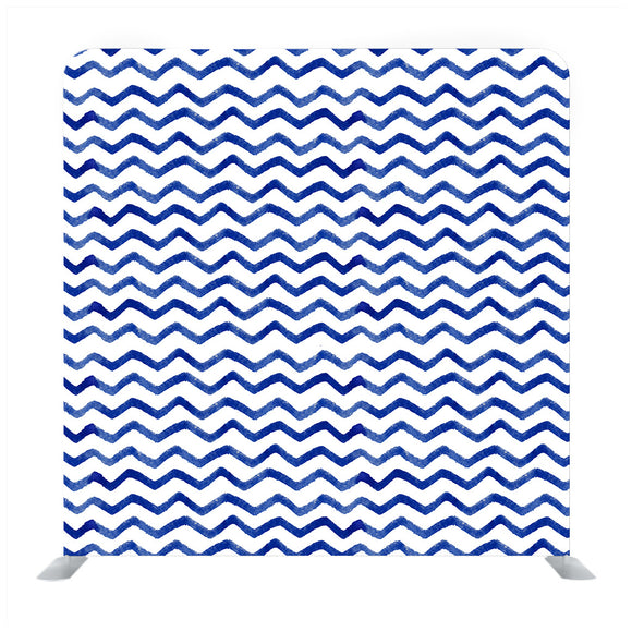 Blue watercolor zigzag pattern Background Backdrop
