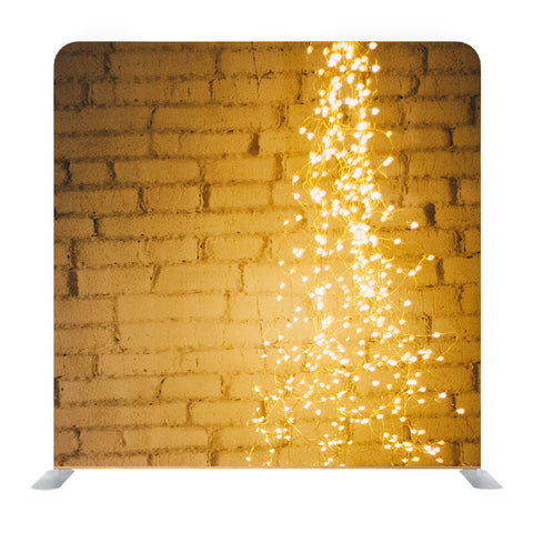Brick wall with light decorated Media wall