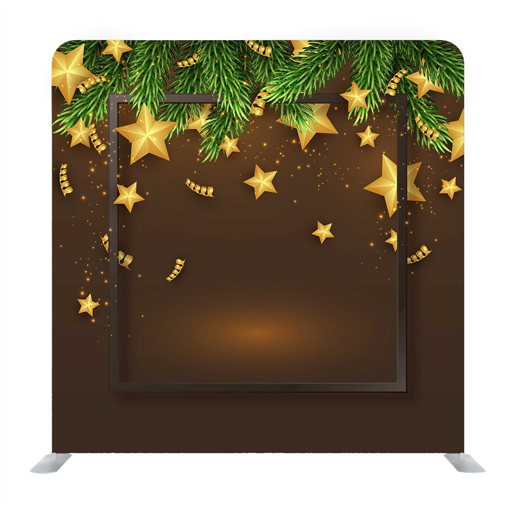 Card With Golden Stars Art Media Wall