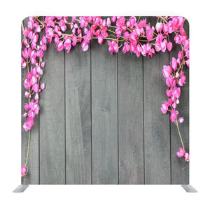 Cherry Blossom Flowers on Wooden Wall Media Wall
