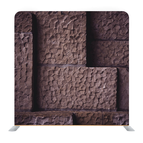 Chiseled Brown Wall Blocks Background Media Wall