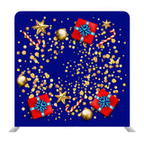 Christmas Sale Banner With Golden Stars And Box Gifts Media Wall
