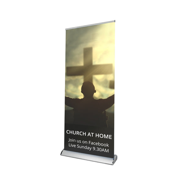 Church Covid -19 Retractable Banner - 01