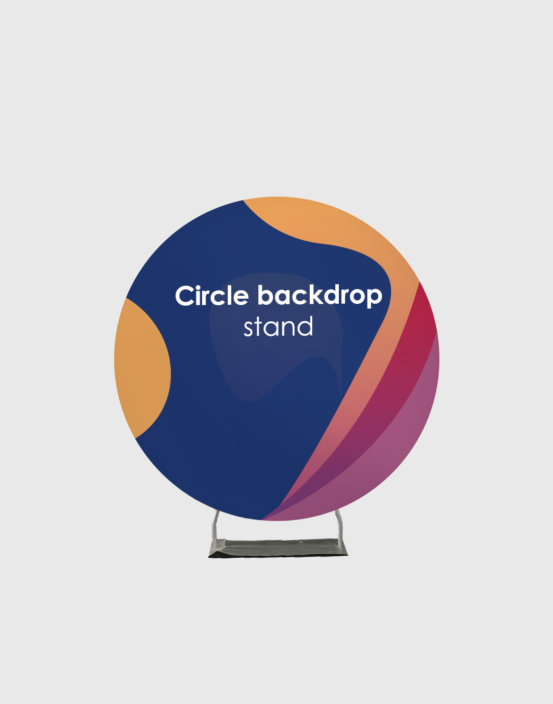 Customized Design Print on Round Frame Stand for Parties/ Events/ Weddings