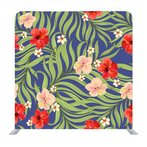 Colorful Floral Art Media Wall