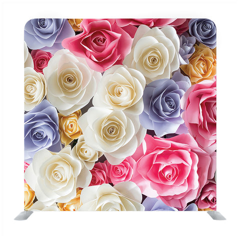 Combined of White And Pink roses Media wall