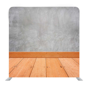 Concrete Wall With Wooden Floor Media Wall