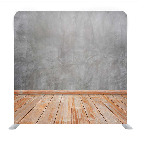 Concrete Smooth Wall And Wooden Floor Surface Media Wall