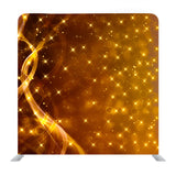 Dazzling Golden Stars and Lines Media Wall