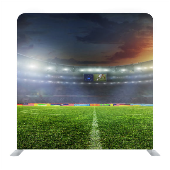 Digitally generated football  stadium Media wall