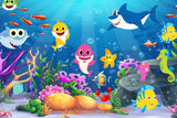 Sea Animals Cartoon Backdrop