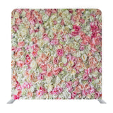 White and Pink Floral Media Wall