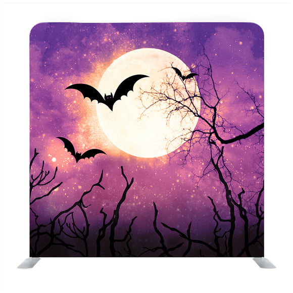 Flying Bats in Moonlight Media Wall
