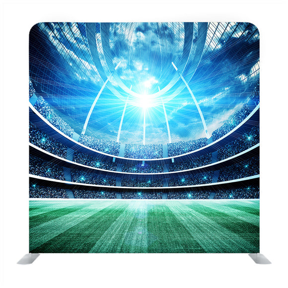 Football and field abstract background Media wall