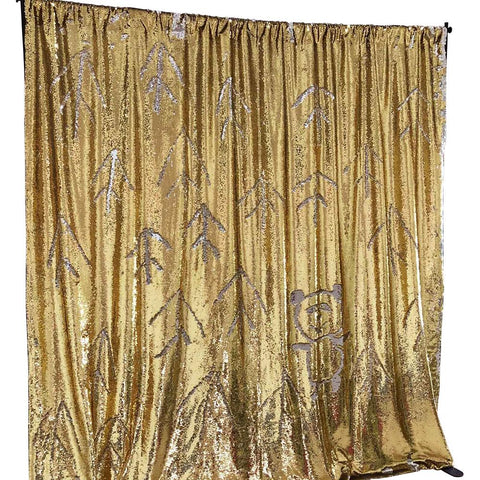 Mango Gold Mermaid Sequin Backdrops (Photo booth backdrops that help you win hearts)