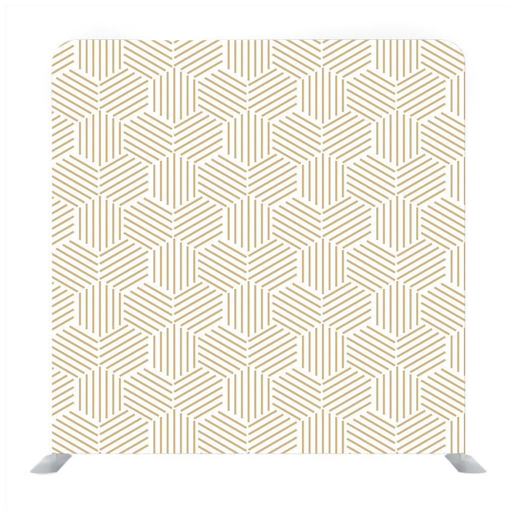 Gold and White Stripped Hexagon Backdrop