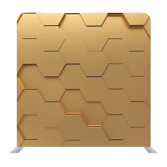 Golden Hexagonal Pattern Media Wall