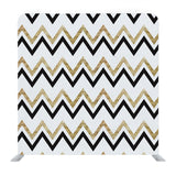 Golden and black zig zag striped Backdrop