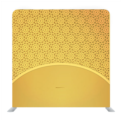 Gold frame with pattern background backdrop