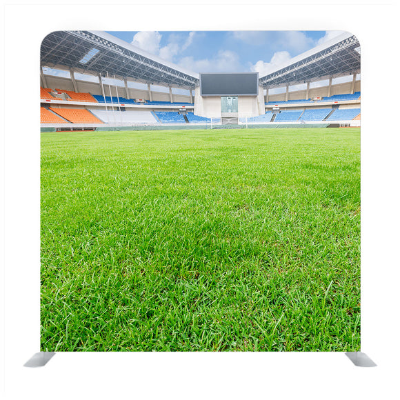 Green lawn in a open stadium Media wall