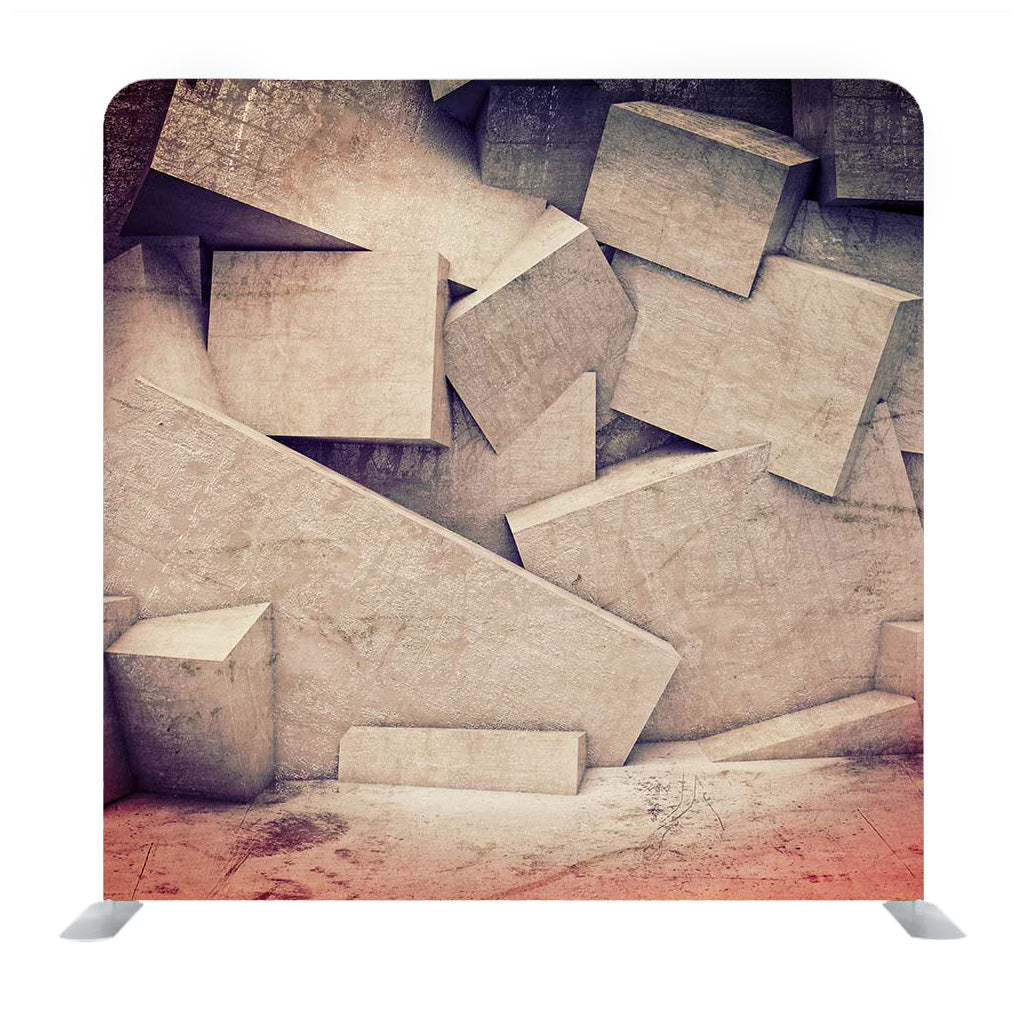 Grey Cement Cubes Media Wall
