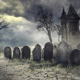 Haunted House Halloween Scary Party Design Background